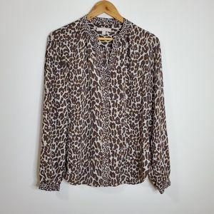 Banana Republic leopard print shirt